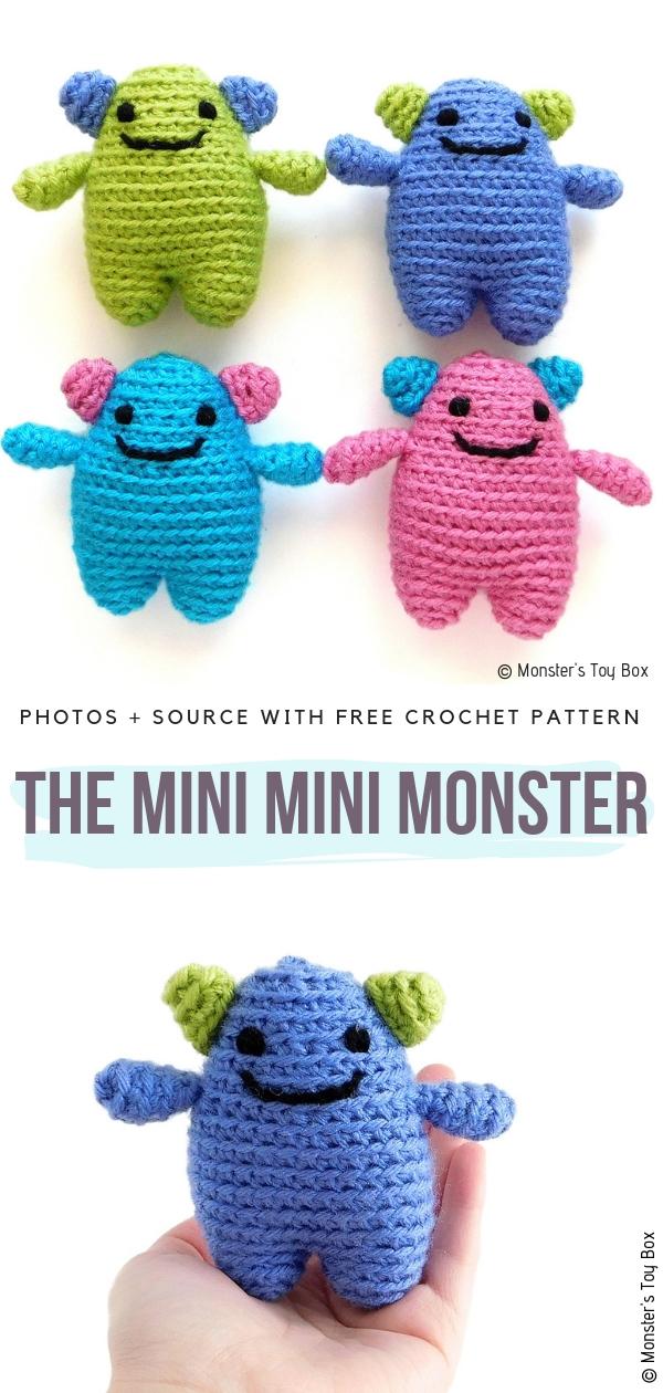 The Mini Mini MonsterFree Crochet Pattern