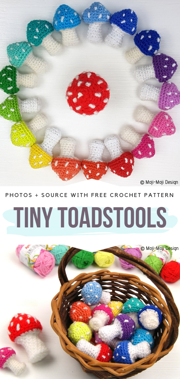 Tiny ToadstoolsFree Crochet Pattern