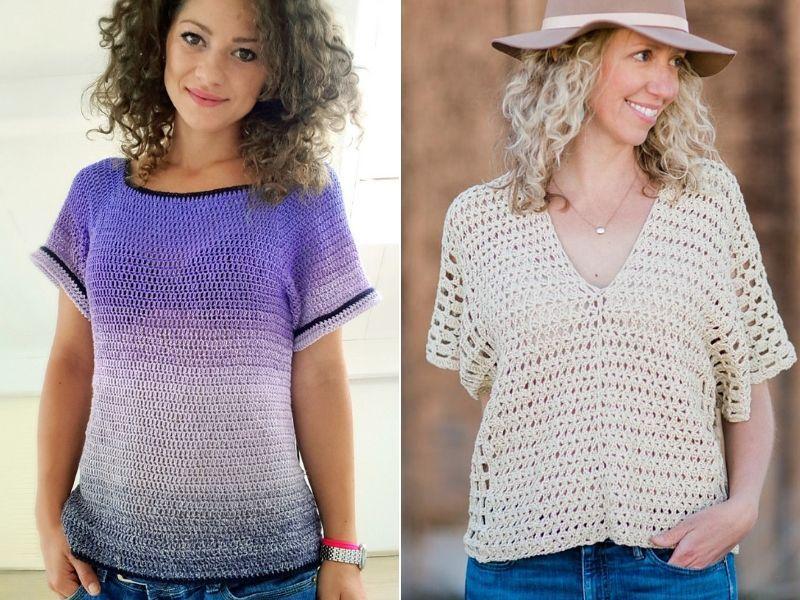 Simple Crochet Tops Free Patterns