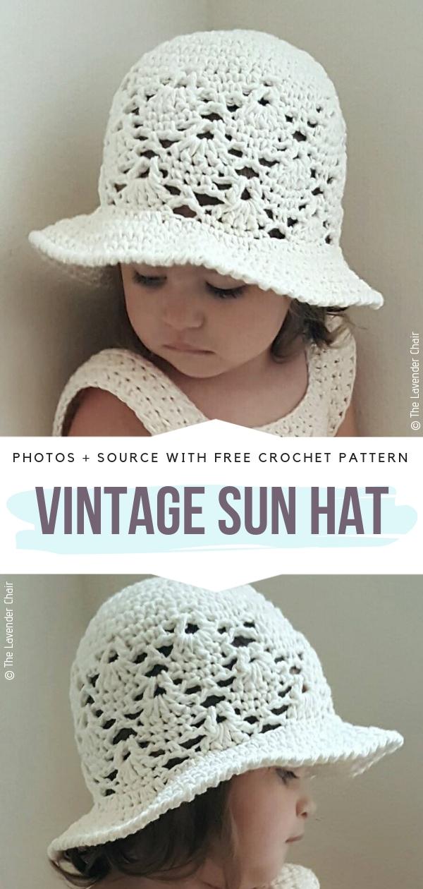 Vintage Sun HatFree Crochet Pattern