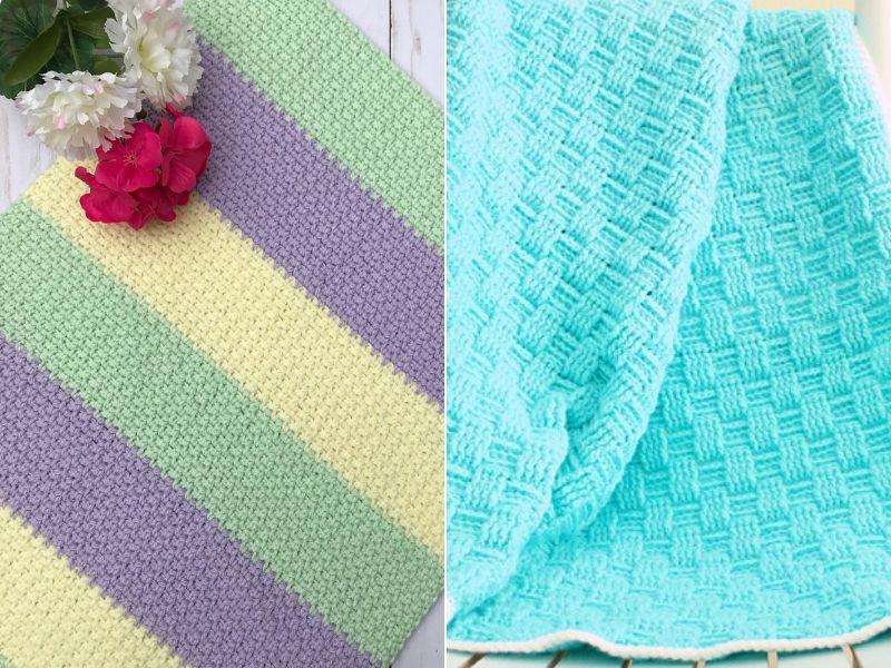 Weave Stitch Crochet Blankets Free Patterns
