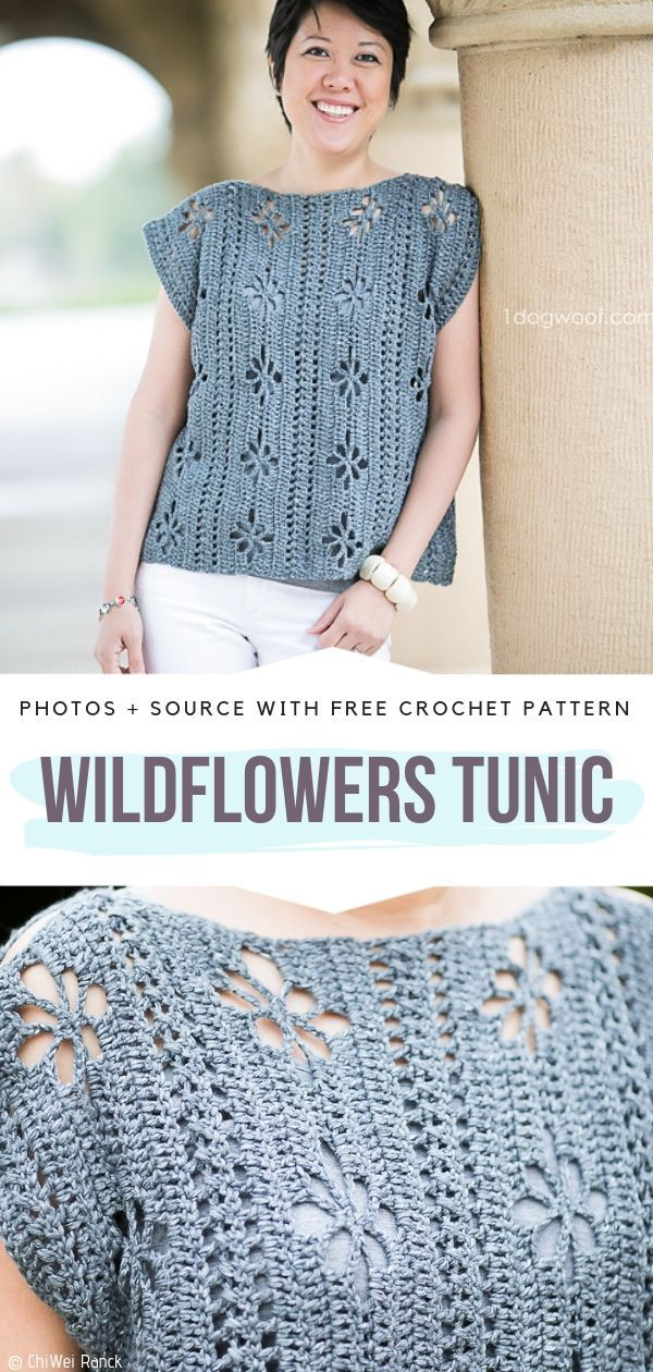 Wildflowers Tunic Free Crochet Pattern