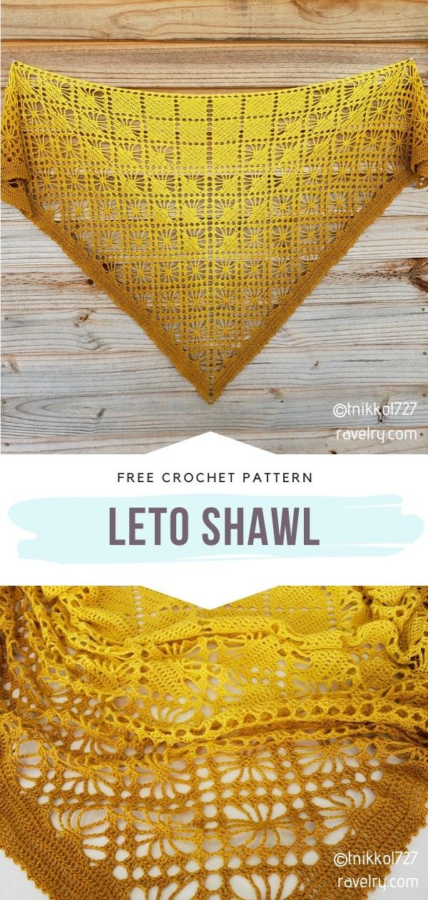 Yellow Crochet Shawl