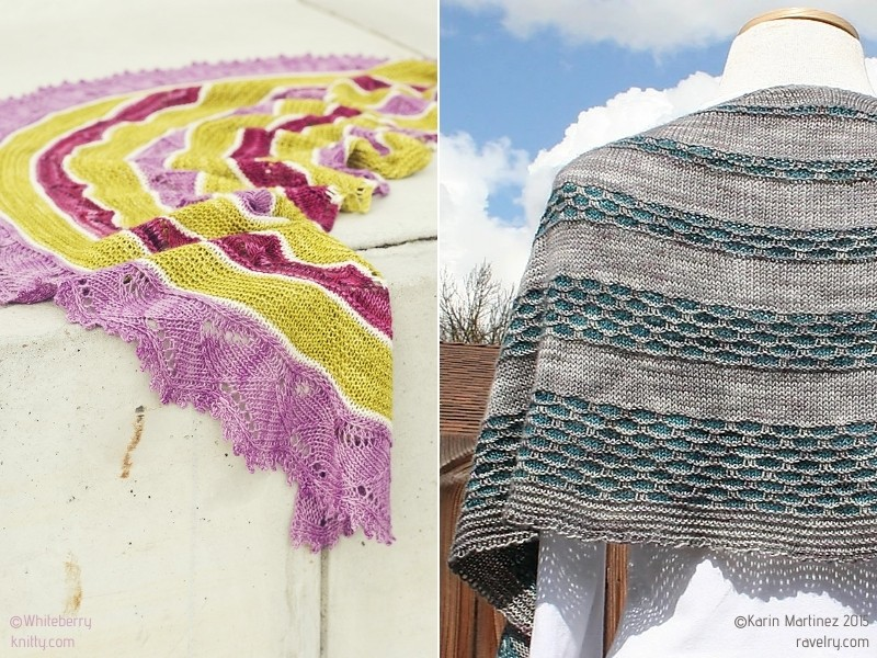 Beautiful Crescent Shawls with Free Knitting Patterns
