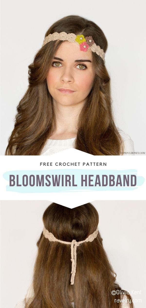 Crocchet Floral Headband