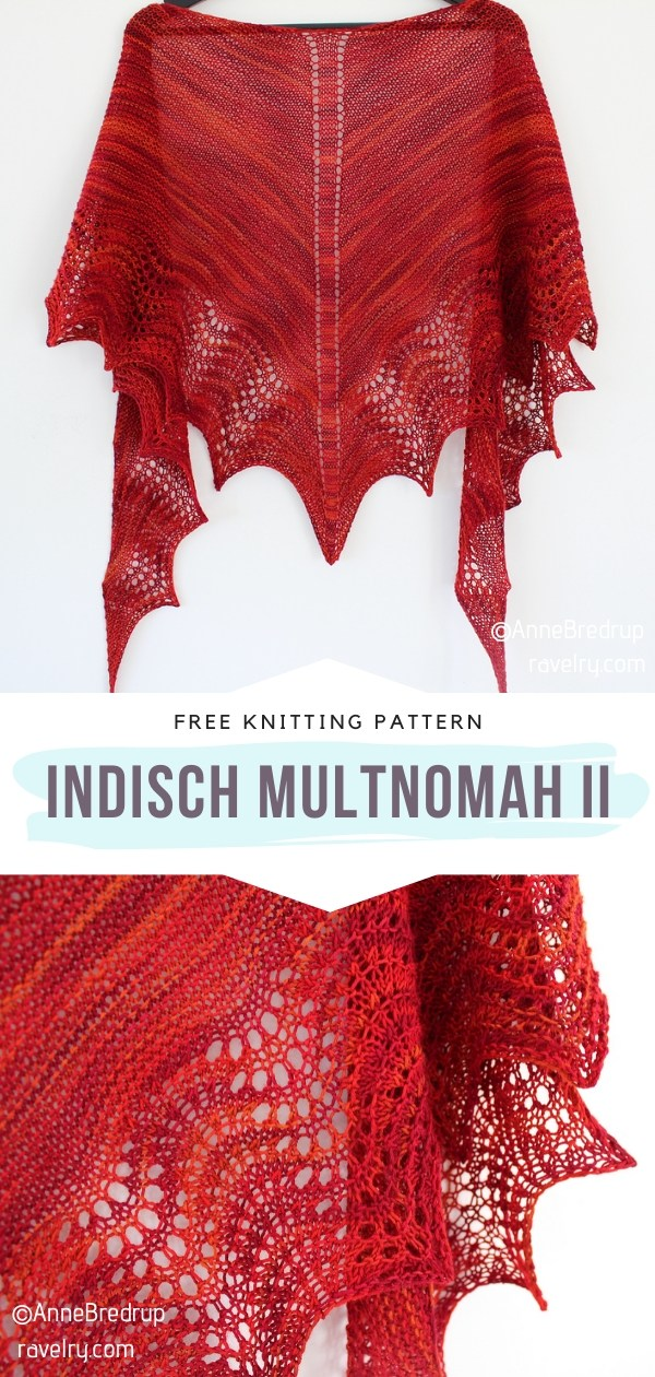 Red Knitted Shawl