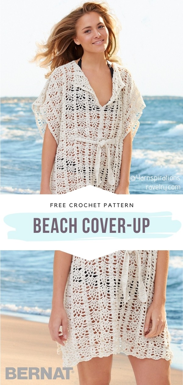 Lacy Cover Ups For Summer With Free Crochet Patterns
