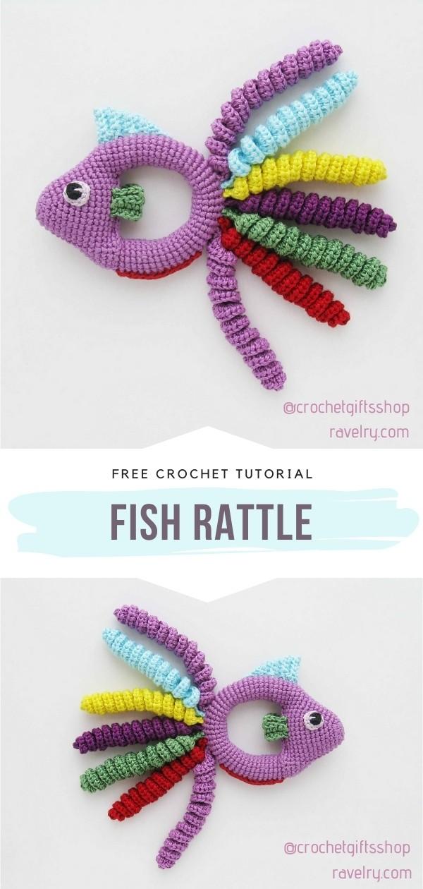 Crocheted Fish Rattle
