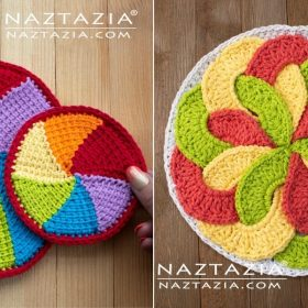 Circular Crochet Potholders with Free Patterns