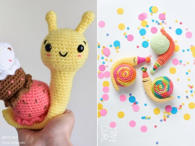Fun Snail Amigurumi with Free Crochet Patterns