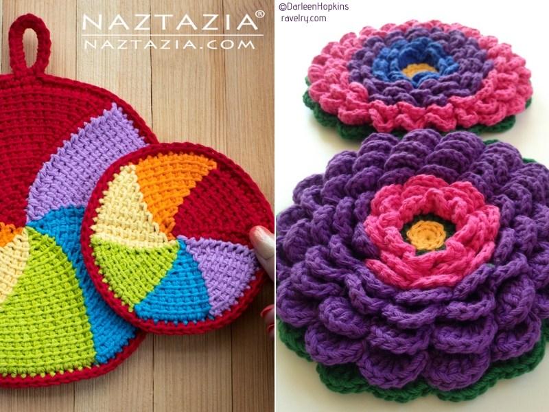 Circular Crochet Potholders