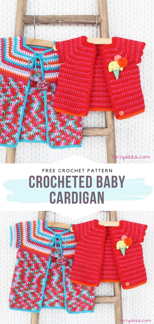 Two Crochet Baby Cardigans