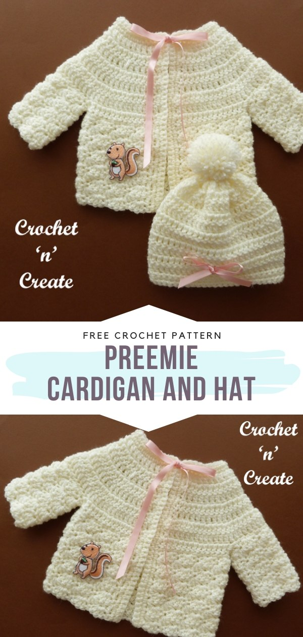 Crochet Baby Cardigan and Hat