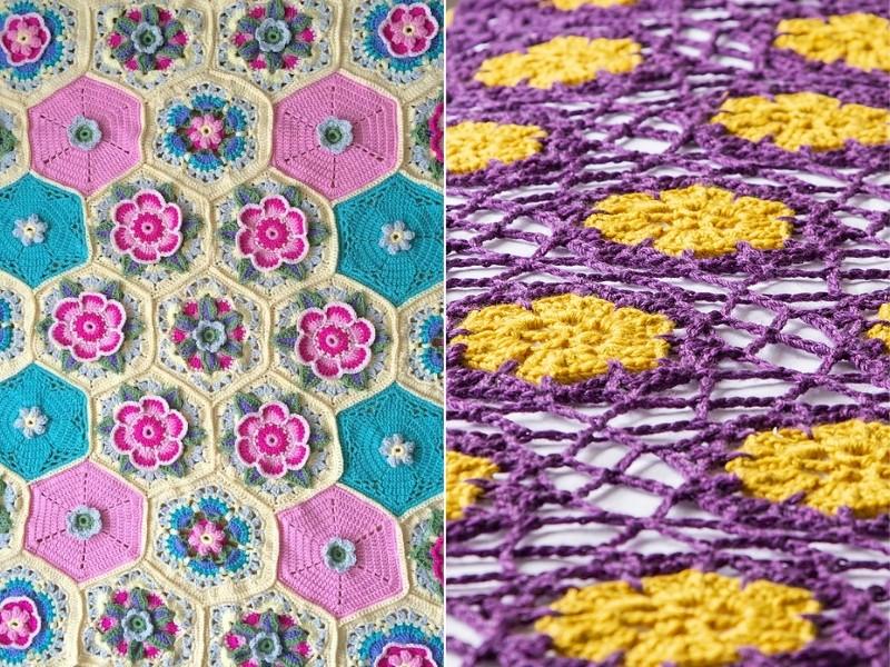Stunning Flower Blankets Free Crochet Patterns