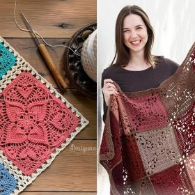 Lace Motif Squares with Free Crochet Patterns