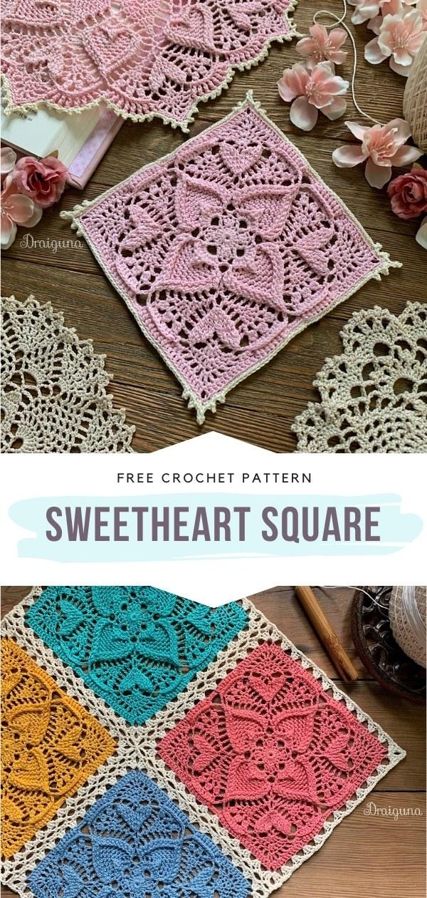 Lacy Crochet Square