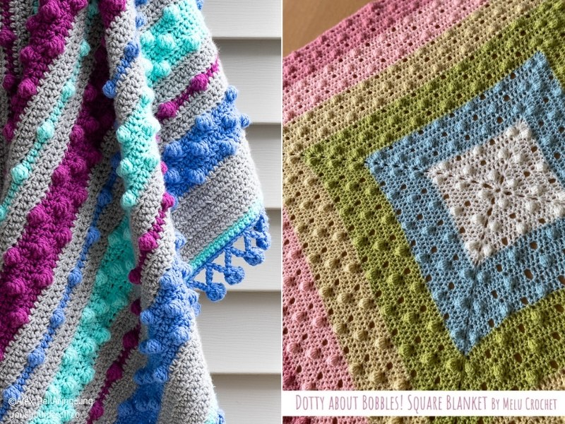 Delightful Bobble Baby Blankets with Free Crochet Patterns (1)