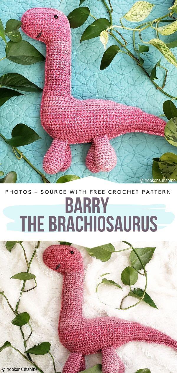 Barry the Brachiosaurus Free Crochet Pattern