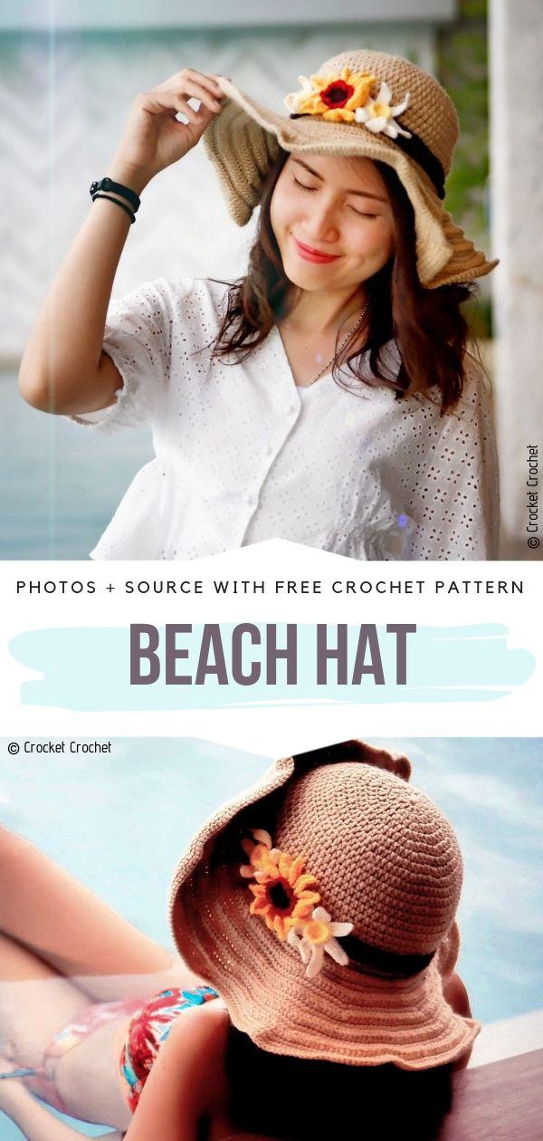 Beach Hat Free Crochet Pattern