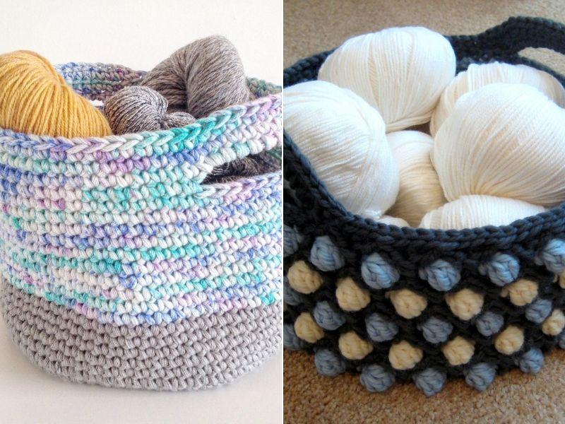 Bulky Yarn Basket Ideas Free Crochet Patterns