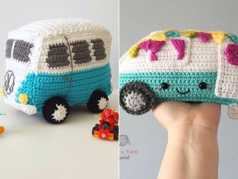 Camper Van Amigurumi Free Crochet Patterns