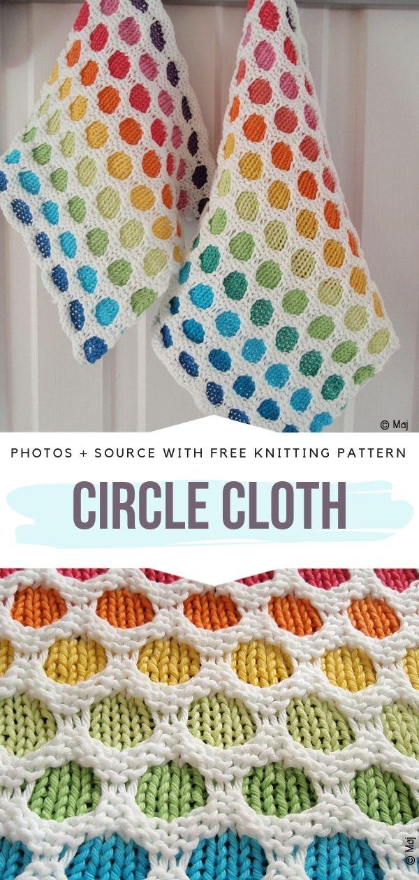 Circle Cloth Free Knitting Pattern