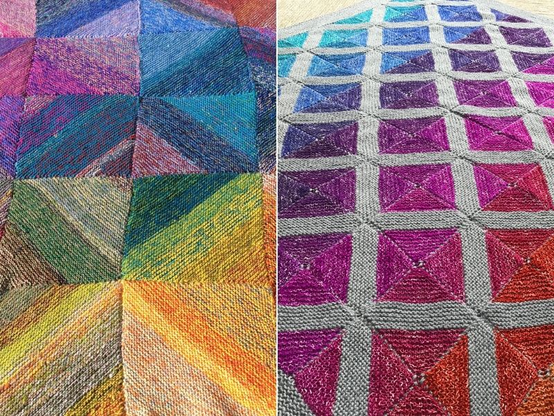 Colorful Knitted Blankets Free Patterns