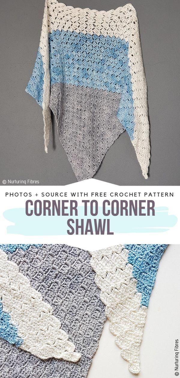 Corner To Corner Crochet Shawl