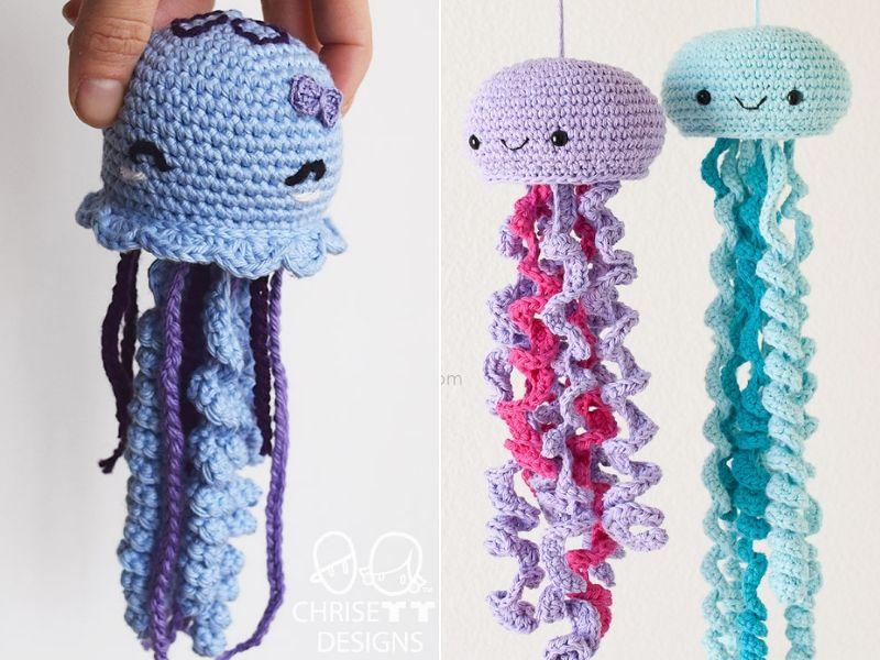 Curly Jellyfish Amigurumi Free Crochet Patterns