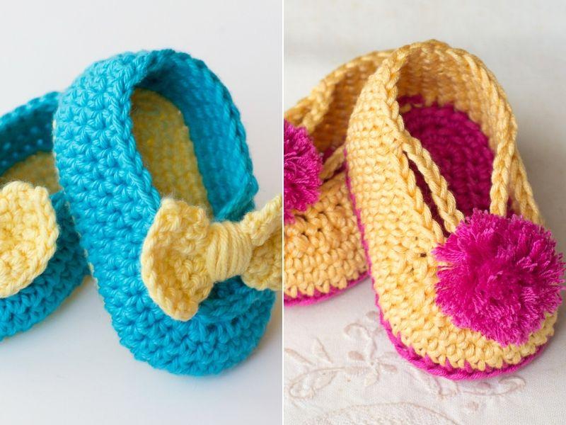 Cute Baby Summer Booties Free Crochet Patterns