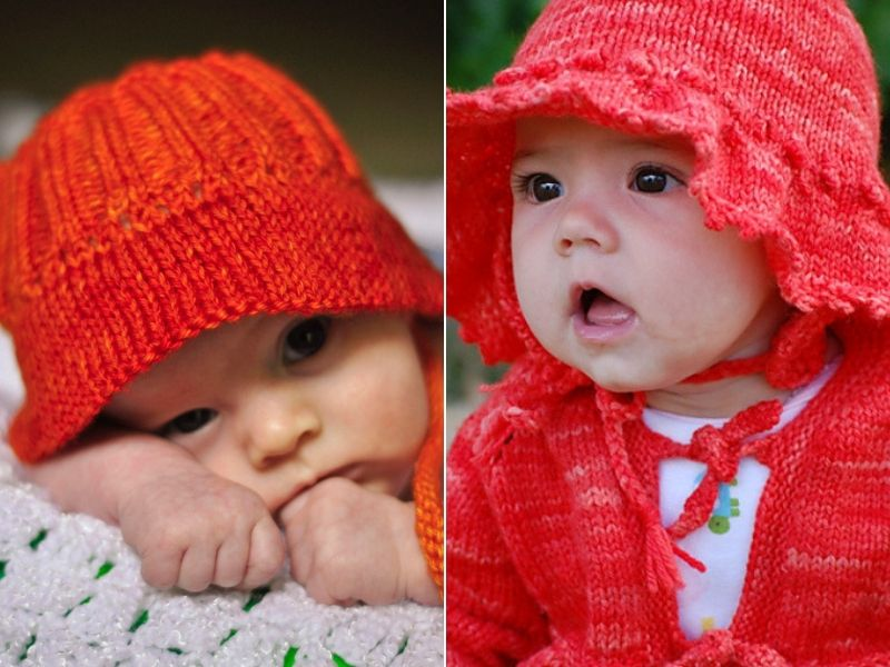 Cute Knitted Baby Sun Hats Free Patterns
