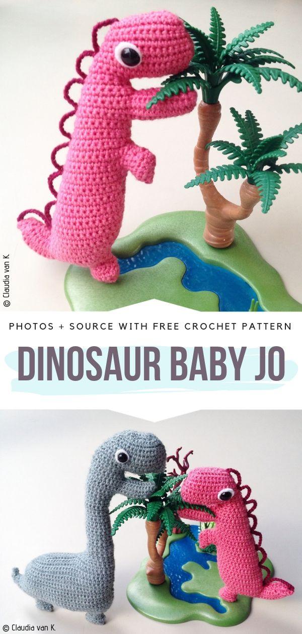 Dinosaur Baby Jo Free Crochet Pattern