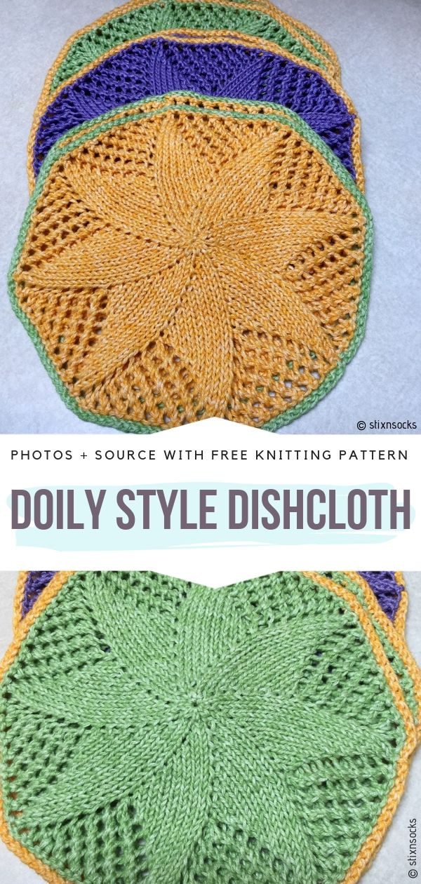 Circular Knitted Dishcloths Free Patterns