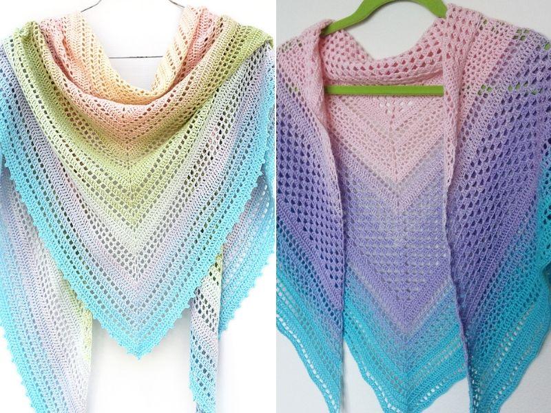 Easy Crochet Pastel Shawls Free Patterns