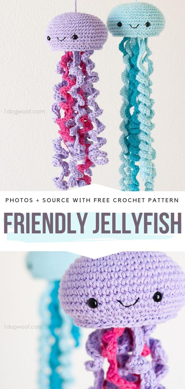 Friendly Jellyfish Free Crochet Pattern