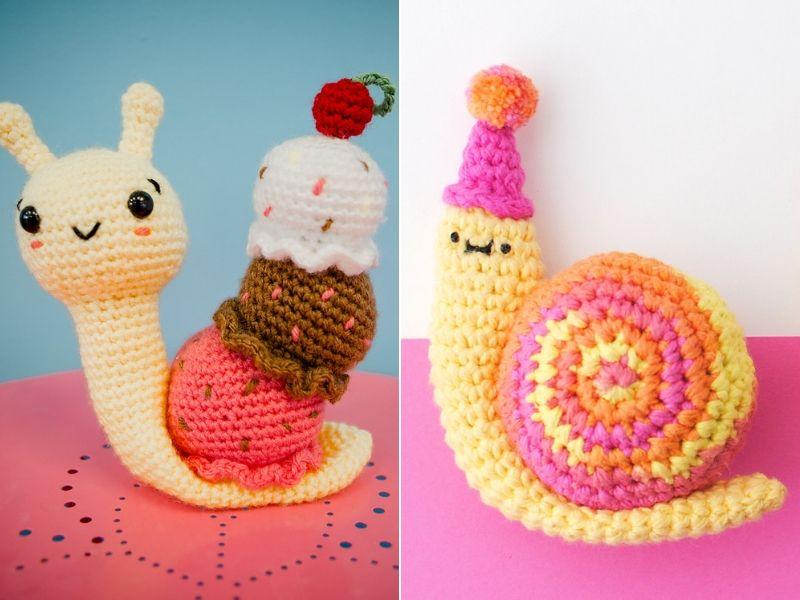 Fun Snail Amigurumi Free Crochet Patterns