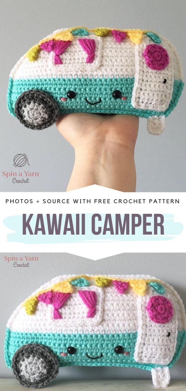 Kawaii Camper Free Crochet Pattern