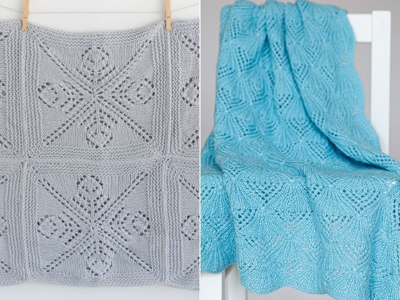 Knitted Lace Blankets Free Patterns