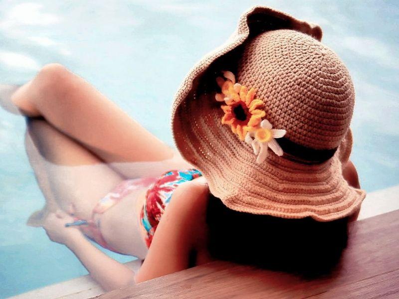 Large Brims Sun Hats Free Crochet Patterns
