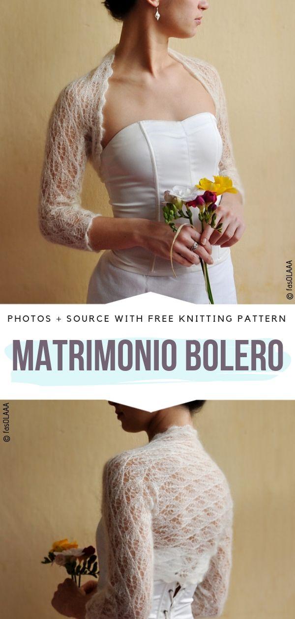 Matrimonio Bolero Free Knitting Pattern