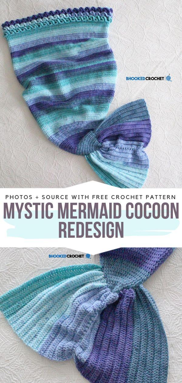 Mystic Mermaid Cocoon Redesign Free Crochet Pattern