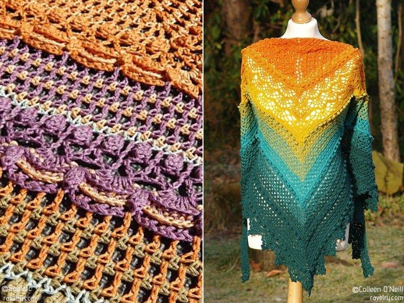 Intricate Summer Shawls Free Crochet Patterns