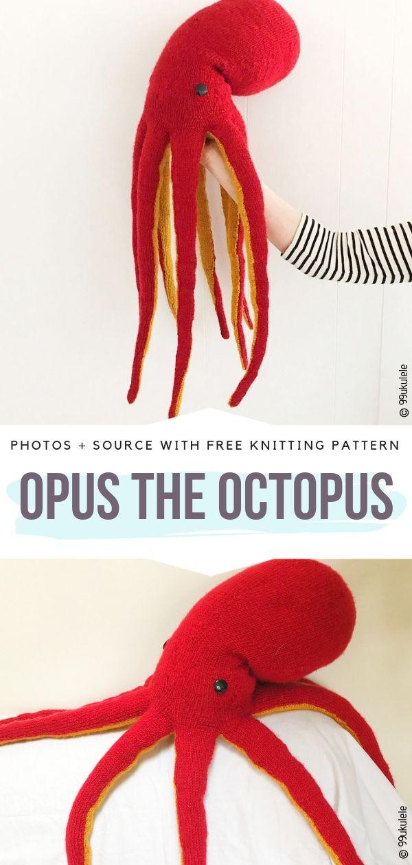 Opus the Octopus Free Knitting Pattern