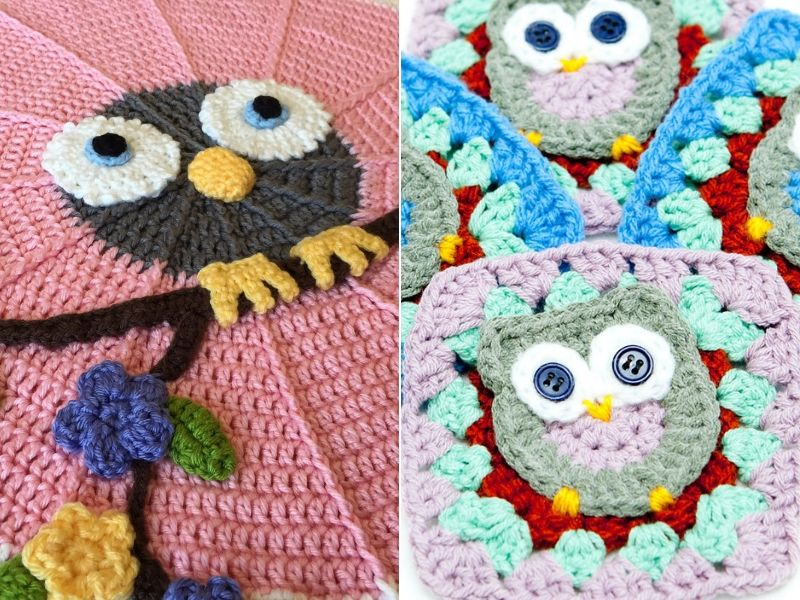 Owl Blanket Ideas Free Crochet Patterns