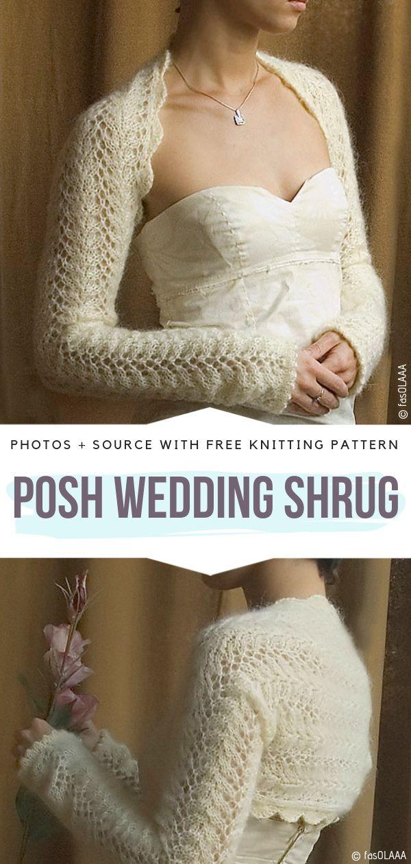 Posh Wedding Shrug Free Knitting Pattern