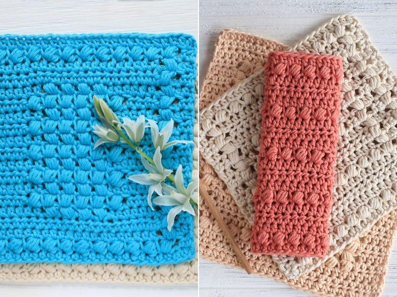 Puff Stitch Dishcloth Ideas Free Crochet Patterns