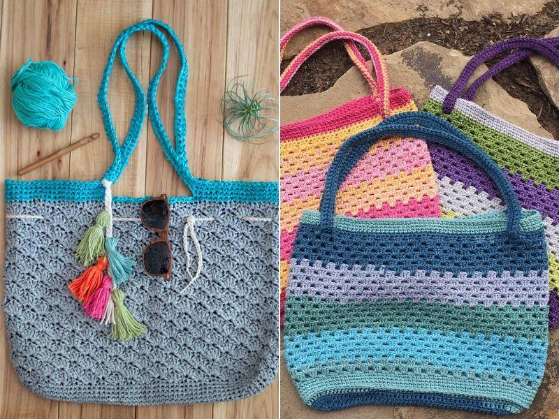 Raffia Summer Bag Ideas Free Crochet Patterns