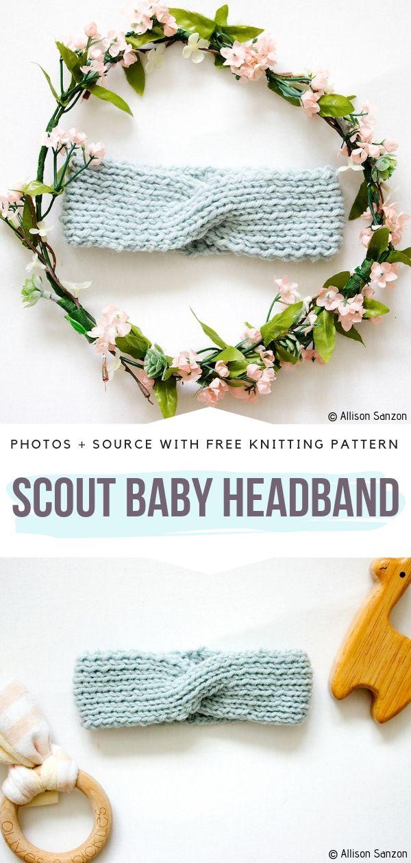 Scout Baby Headband Free Knitting Pattern