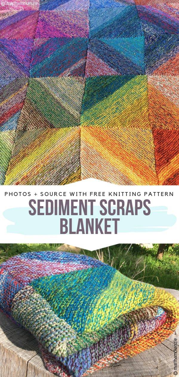 Sediment Scraps Blanket Free Knitting Pattern