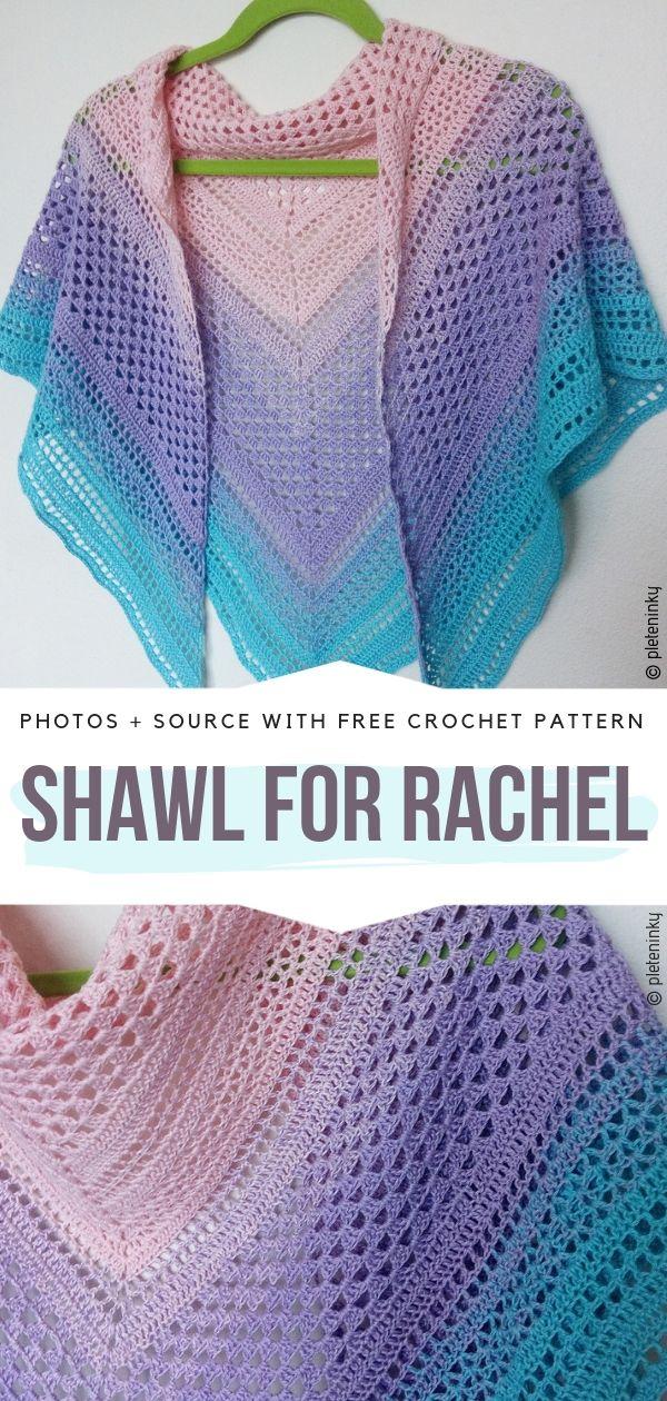 Shawl for Rachel Free Crochet Pattern